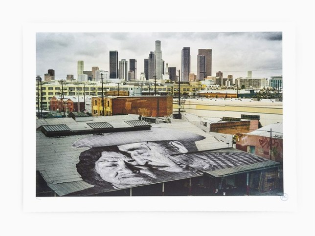 Artist JR , JR - Lovers on the roof, USA, 2018