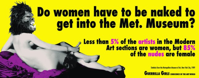 Guerrilla Girls Feminist Art