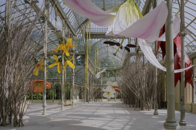 Vue de l'exposition au Palacio de Cristal
