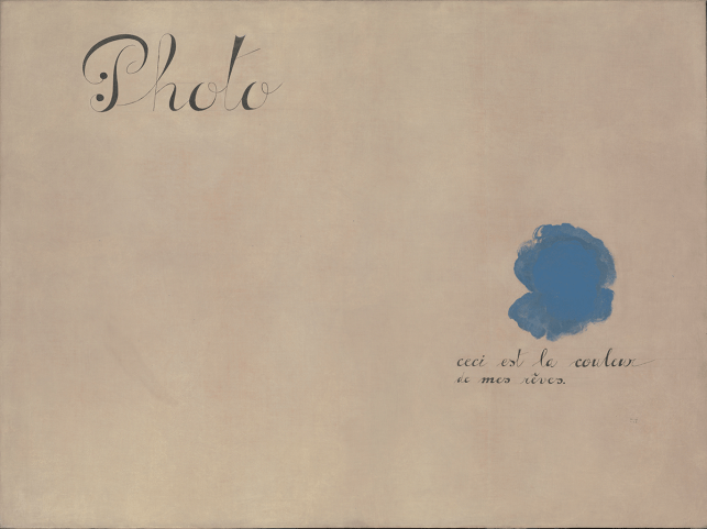 Photo: This Is the Color of My Dreams, Joan Miró (1925)