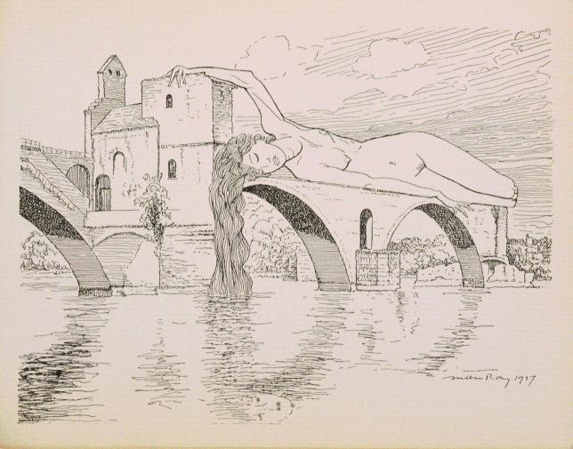Man Ray Le pont brisé illustration