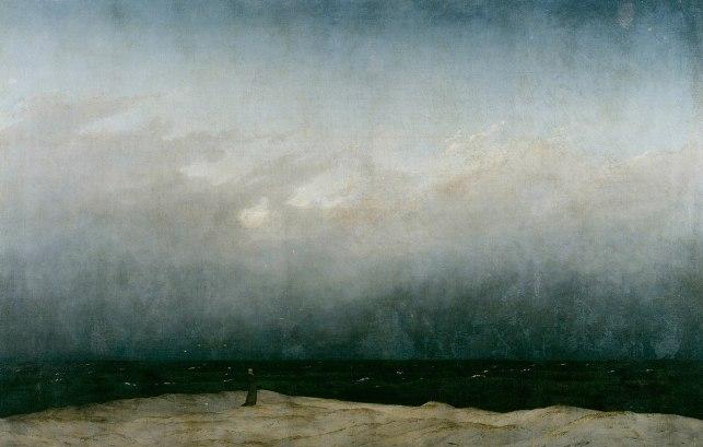 Caspar David Friedrich, Le moine au bord de la mer (1808-10)