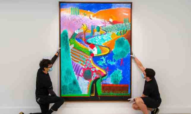 Nichols Canyon by David Hockney, Sold at Philips in 2020