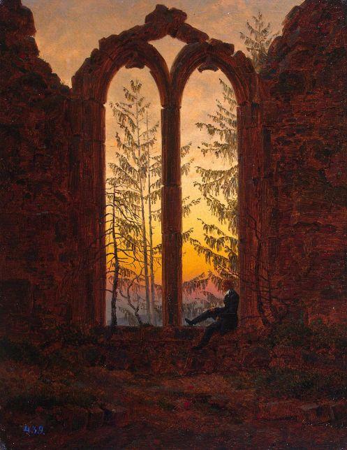 peinture onirique Le rêveur Friedrich