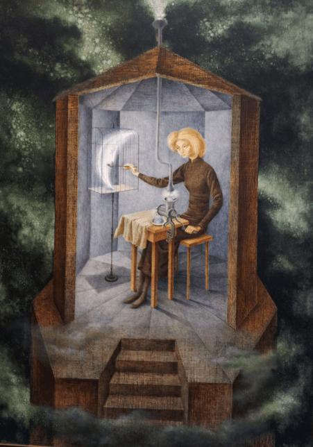 Remedios Varo Uranga - Celestial Pablum oeuvre surréaliste