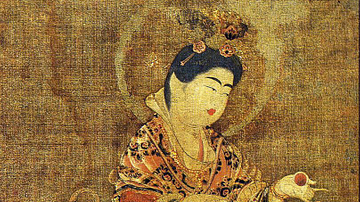 Representation of Kichijoten, 8th century AD. J-C