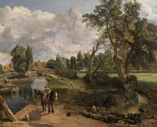 constable flatford mill landscape art