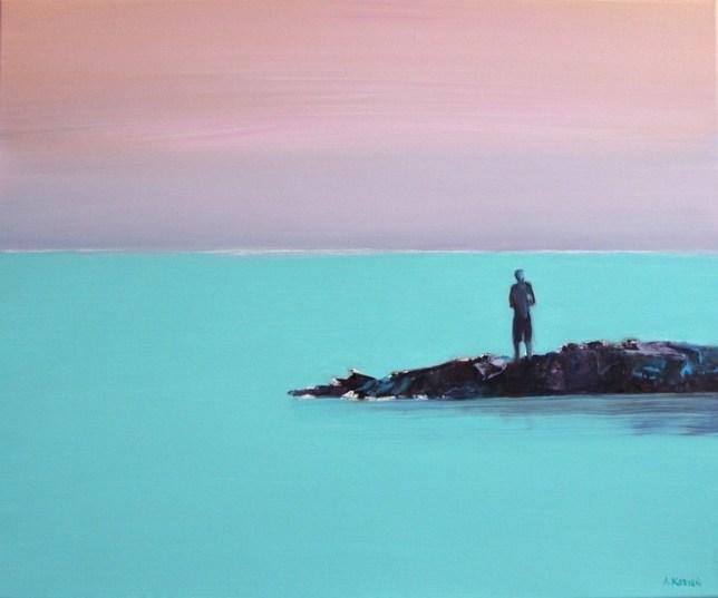kozien island peinture paysage