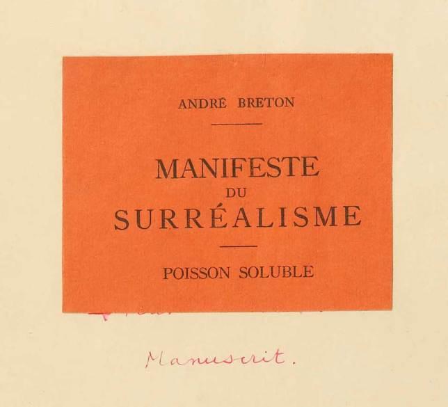 Manifeste du surréalisme, André Breton
