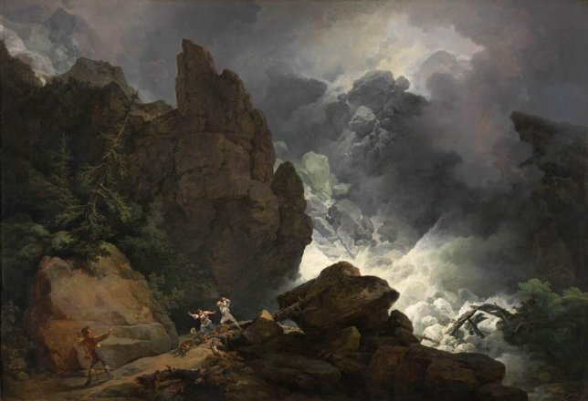 Loutherberg avalanche peinture paysage