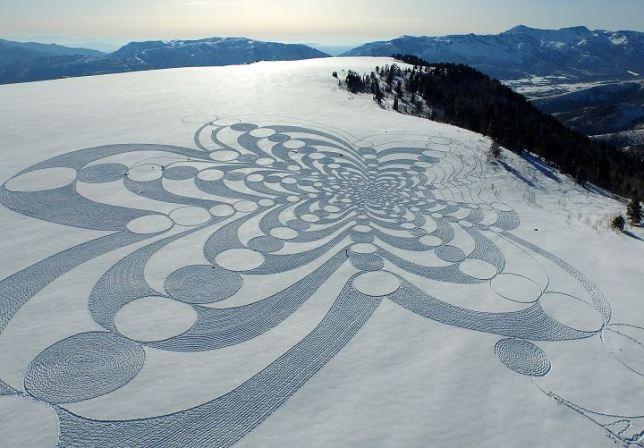 Land Art Simon Beck Snowart