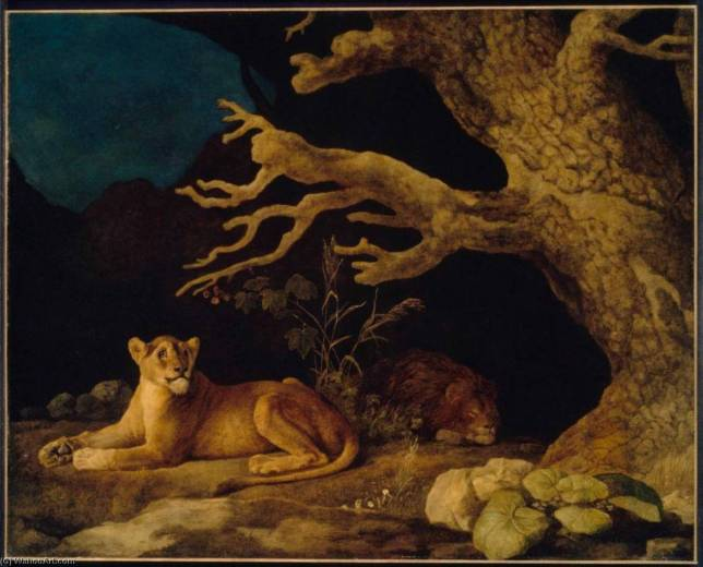 Lion and Lioness, 1771, George Stubbs