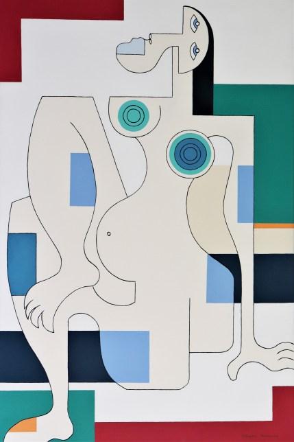 peinture de nu femme, Handsaeme, women, couleurs