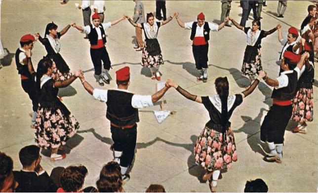 """Group of """"Sardana"""" dancers"""