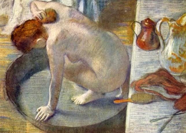 Le Tub, Edgar Degas, peinture de nus de femme, pastel, 1886