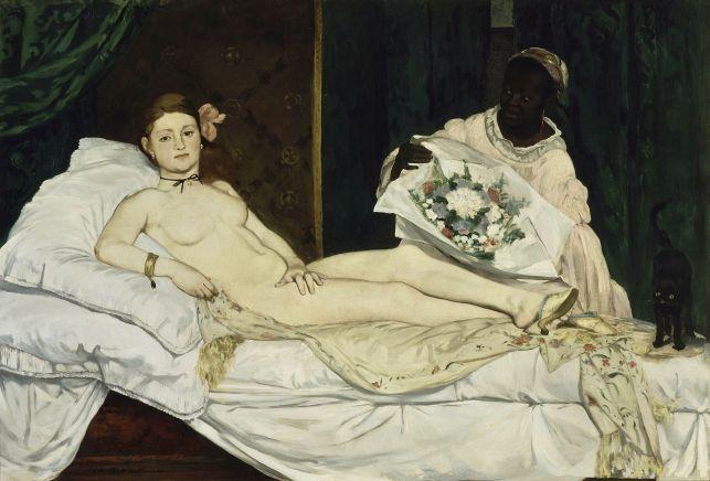 Olympia, Edouard Manet, scandale, peinture de nu de femme, prostituée, académie