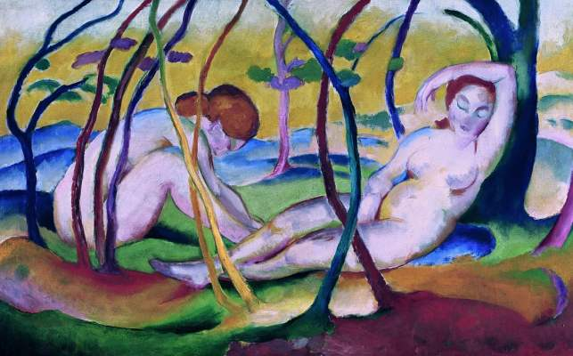 franz marc nude paintings