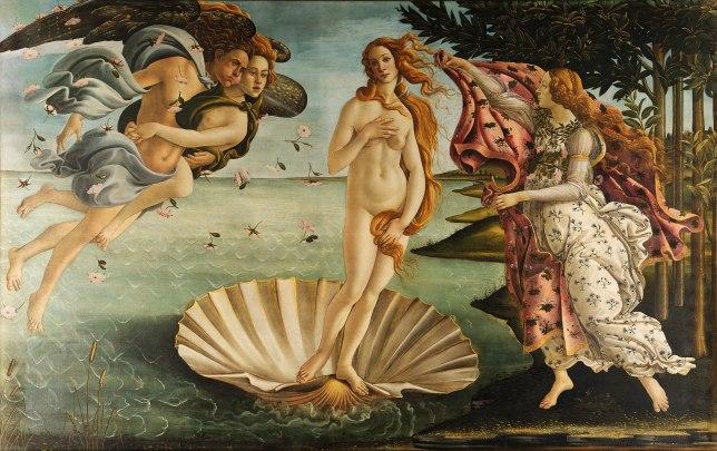 La naissance de Vénus, Botticelli, nu féminin, peinture de nu de femme, sexualité
