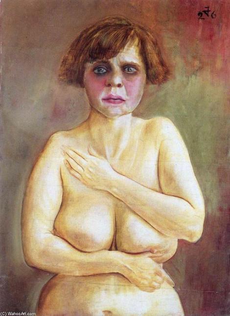 Ottos Dix, peinture de nus de femme, corps, Demi-Nu