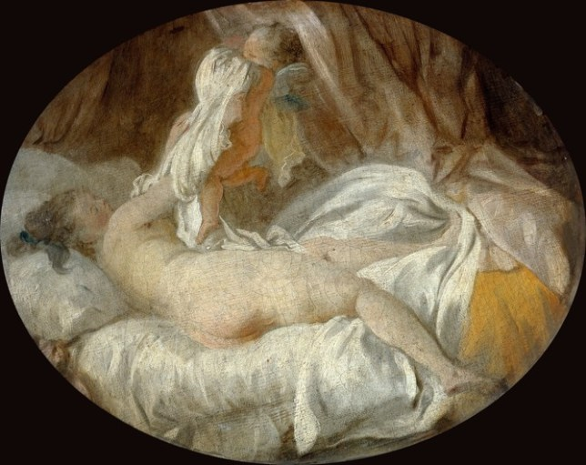 Fragonard, Chemise enlevée, Rococo, putto, frivolité, scènes intimes