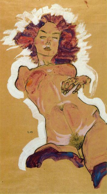 Nu féminin, Egon Schiele, sexualité, expressionnisme
