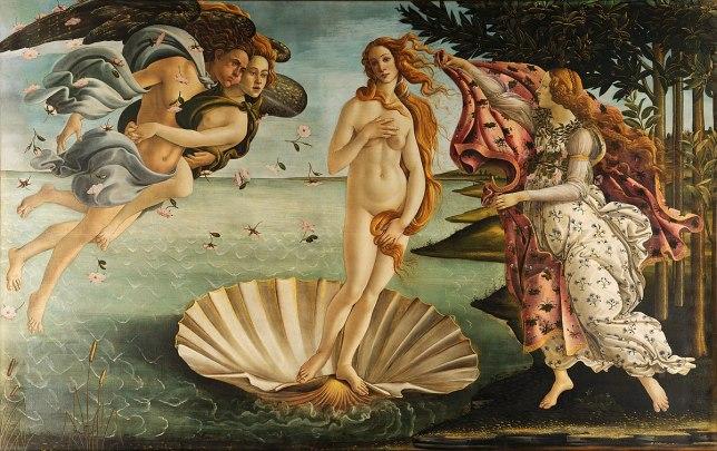 botticelli beach art