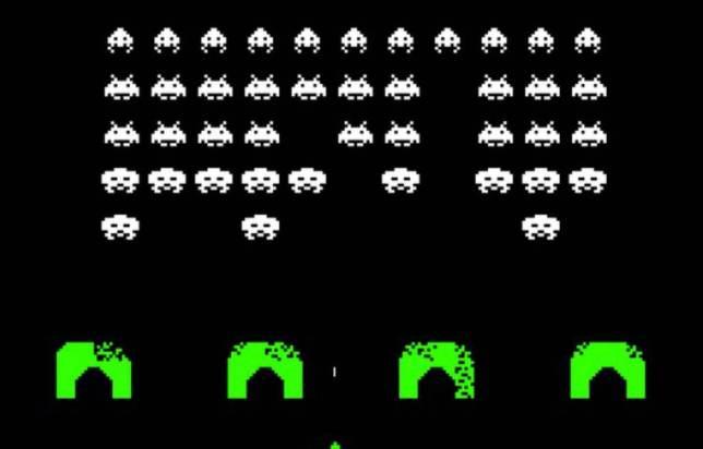 Jeu vidéo de l'époque : Space Invader, source : 20 minutes