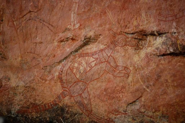 Rock art, wallaby