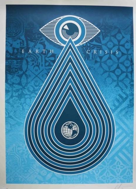 Shepard Fairey, Earth Crisis, 2019 - environmental art