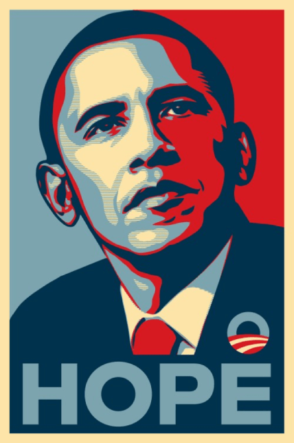 masterpieces, HOPE by Shepard Fairey