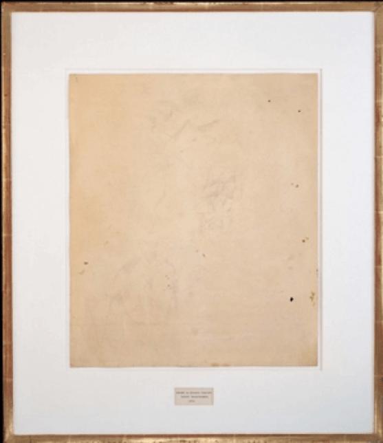 masterpieces, Erased de Kooning Drawing by Robert Rauschenberg