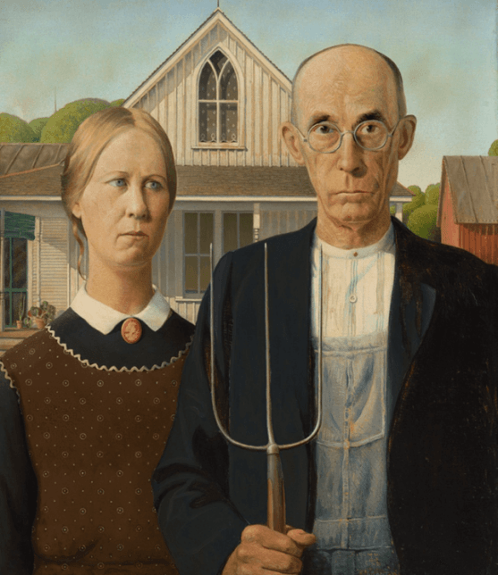 masterpieces, American Gothic by Grant Wood