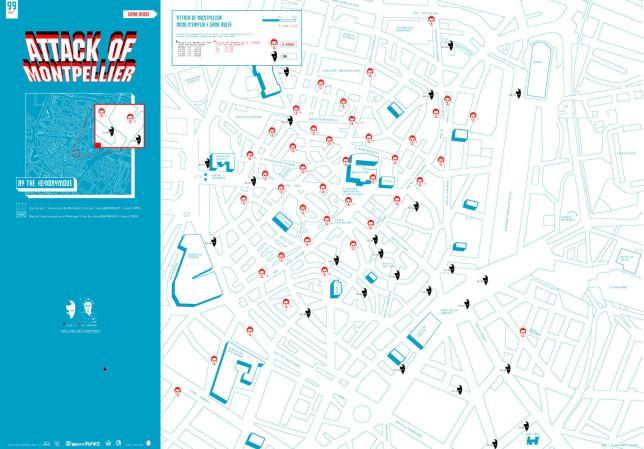 Map de la ville de Montpellier, source : Traac.info