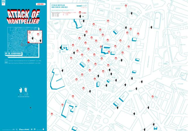 Invader Map of the city of Montpellier, source: Traac.info
