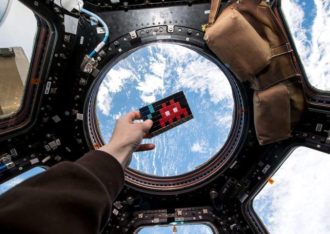 Invader à la station spatiale ISS, source : space-invaders.com