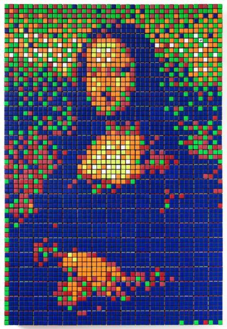 Invader, Rubik Mona Lisa, 2005, source: Télérama.fr
