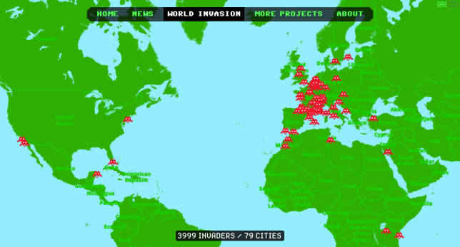 world invasion map, source : space-invaders.com