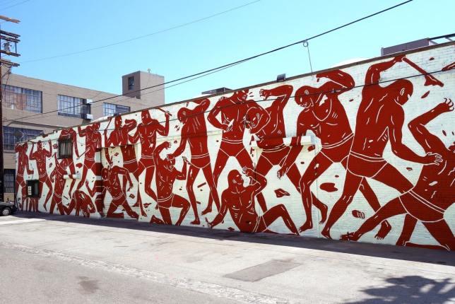 Murale de Cleon Peterson à Los Angeles