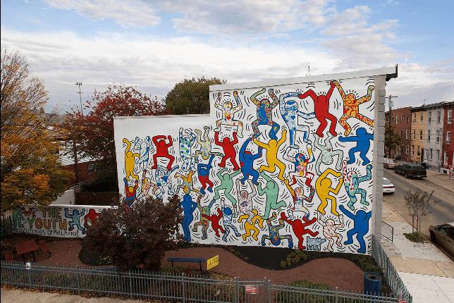 Keith Haring, We the youth, 1987 - Philadelphia. Source : Muralarts