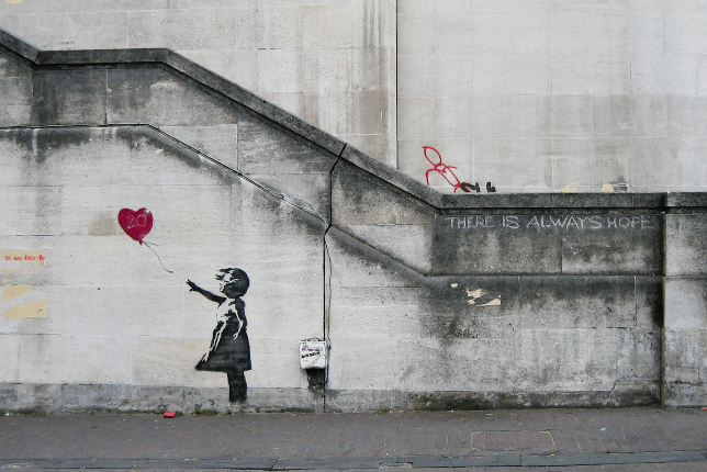 Banksy the little girl with the balloon