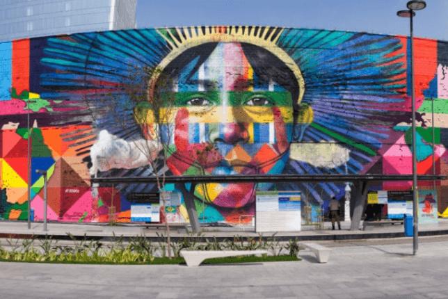 Fresque murale de Kobra, Etnias - Rio. Source : eternels-eclairs.fr