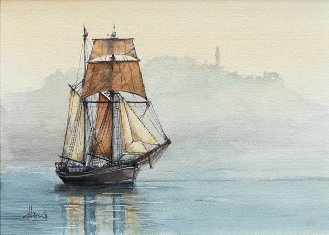 sea landscape watercolor artsper Roger Hirsch