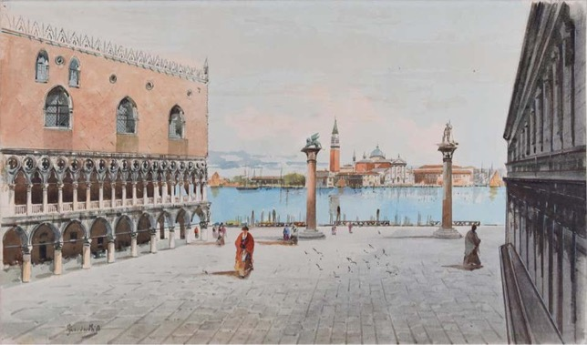 Venezian watercolor Guidotti Artsper