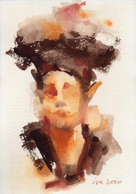 aquarelle marron Tatiana Ivchenkova