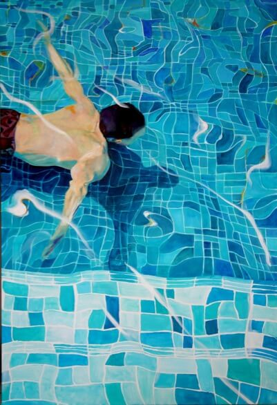 Maud Ovize Pool painting