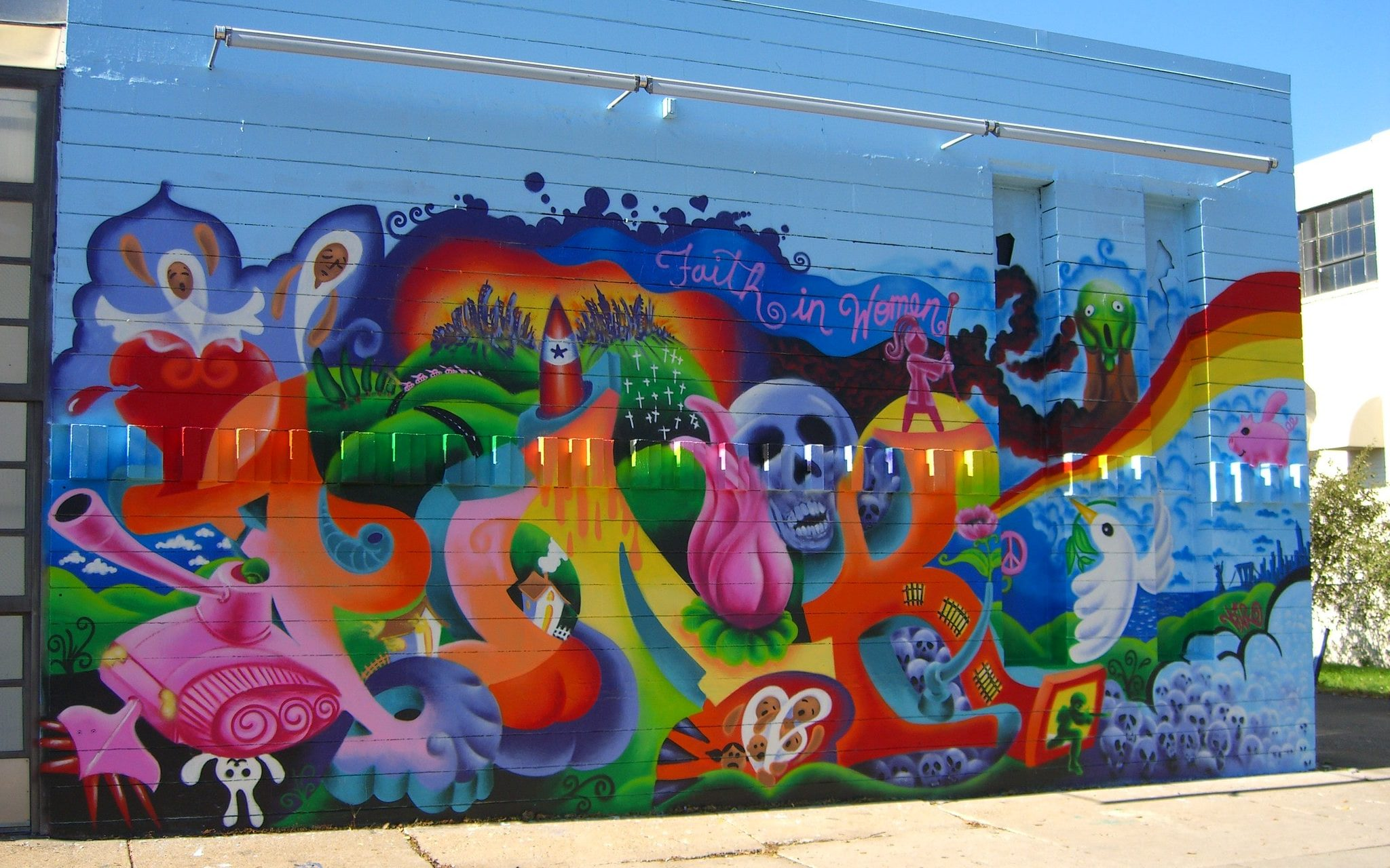 """""""Faith in Women"""" mural by Lady Pink in Minnesota"""