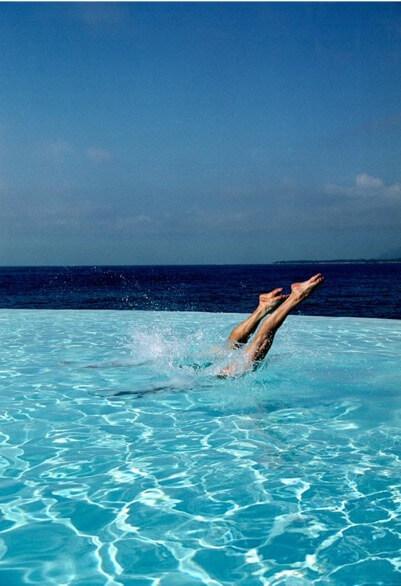 Richard Dunckley, Duo Dive, swimming pool in art Artsper