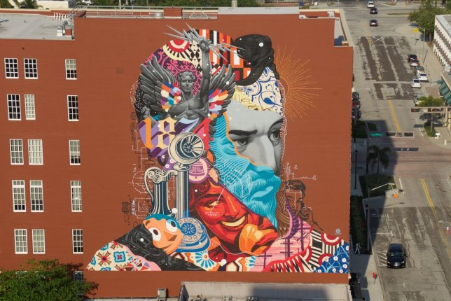"""""""Alexander Graham Bell mural"""" by Tristan Eaton in Florida"""