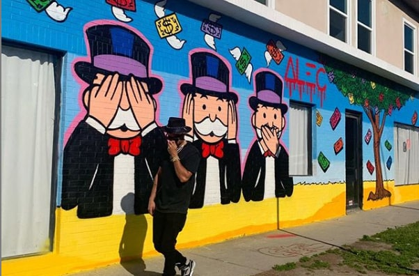 Murale d'Alec Monopoly