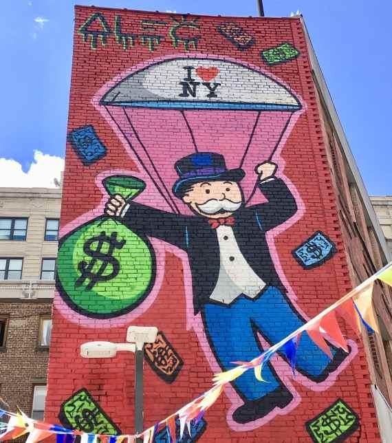 Murale de Alec Monopoly à Chelsea